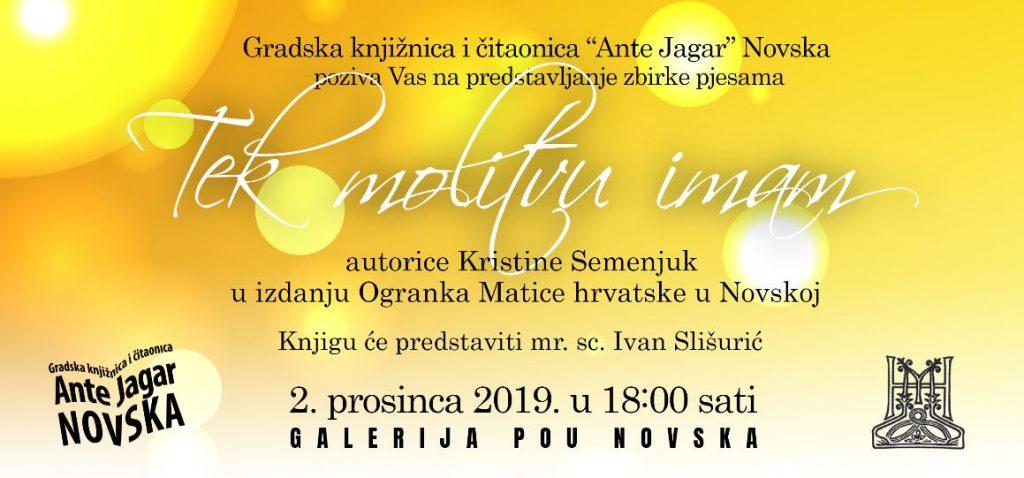 Tek molitvu imam - Kristina Semenjuk